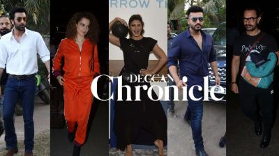B-town celebrities Ranbir Kapoor, Arjun Kapoor, Varun Dhawan, Kangana Ranaut, Jacqueline Fernandez, Aamir Khan, Vidya Balan and others were spotted in the city. See exclusive photos of your favourite star here. (Pictures: Viral Bhayani)