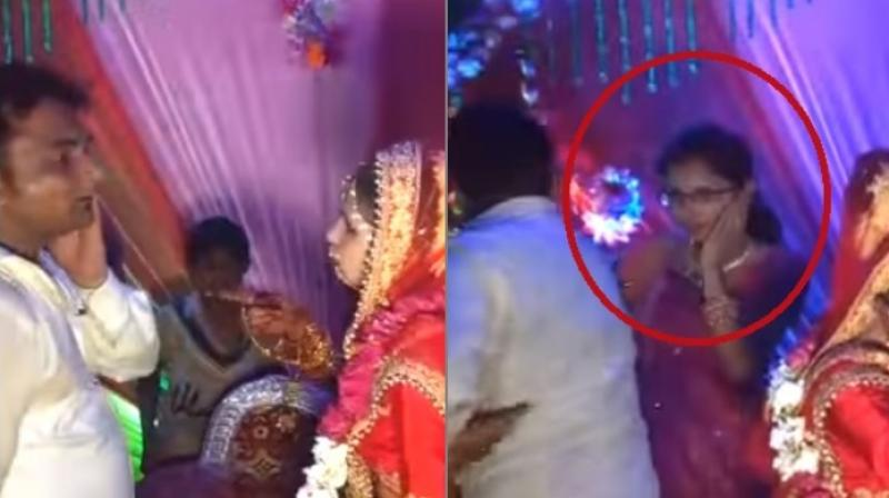 While the video does show a woman refusing to let the man off the hook for touching her without consent, it also shows the violence women suffer (Photo: YouTube)