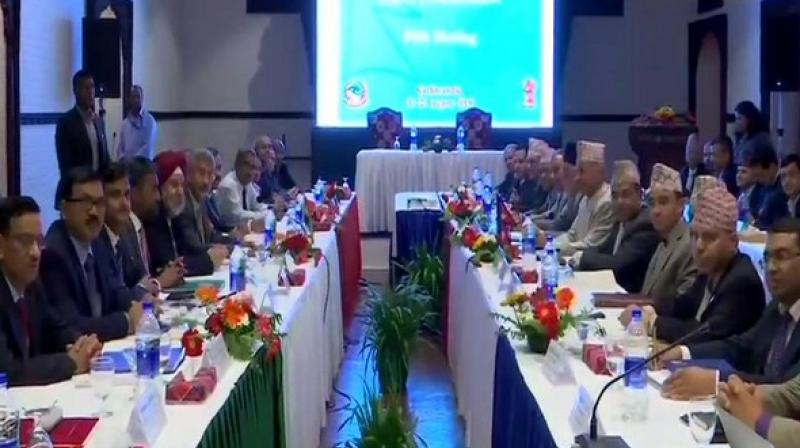 The INR 80.71 cr cheque is a part of the Government of India's commitment of INR 500 cr towards strengthening road infrastructure in the Terai Region of Nepal. (Photo: ANI)