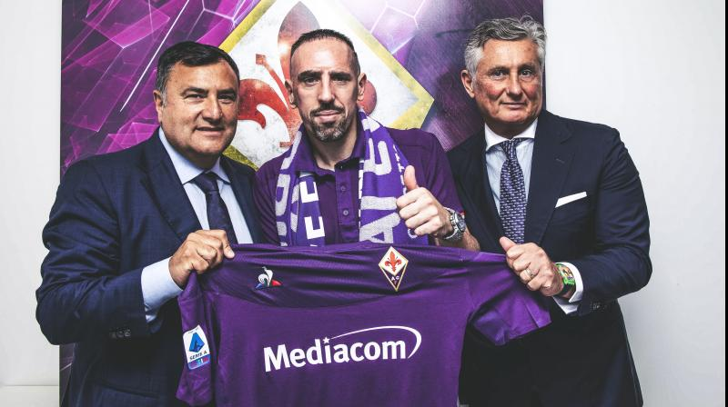 Ribery said that his former Bayern team mate Luca Toni, an ex-Italy international who had two stints had Fiorentina, had helped convince him to make the move. (Photo: Twitter/ACF Fiorentina)