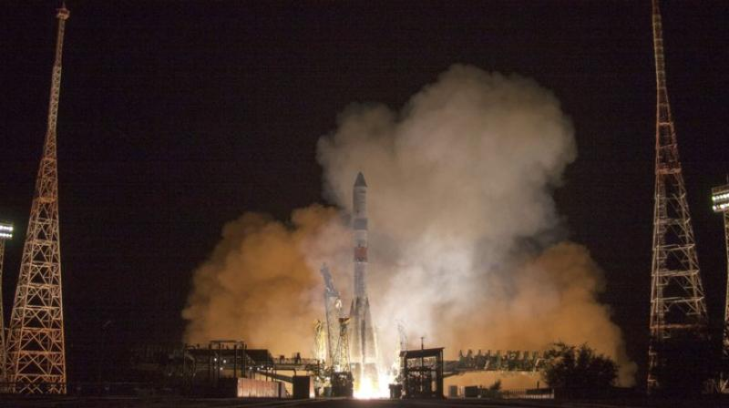 The faster manoeuvre became possible thanks to a new version of the Soyuz booster rocket, noting that it puts the ship into orbit with higher precision. (Photo: AP)