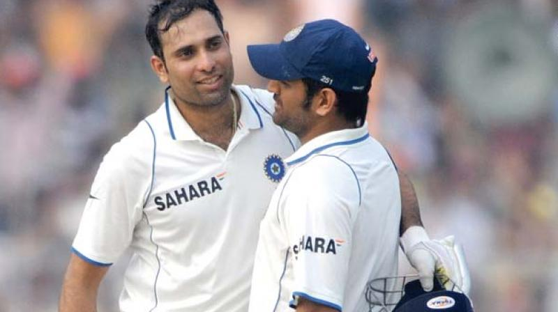 V.V.S. Laxman and M.S. Dhoni