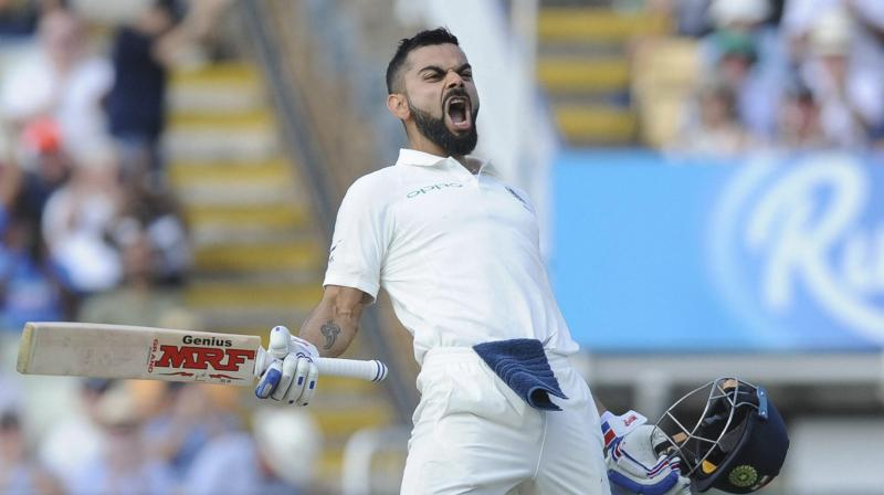 Virat Kohli scored 149 and 51 in India's 31-run defeat against England at Edgnaston and has gone up by 31 points, which have helped him to end Steve Smith's 32-month reign as the top-ranked batsman and reach the top of the summit for the first time in his 67-Test career. (Photo: AP)