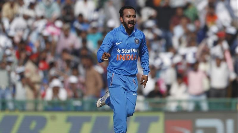 Kedar Jadhav was on Saturday ruled out of the three-match ODI series against Sri Lanka due to a hamstring injury. (Photo: AP)