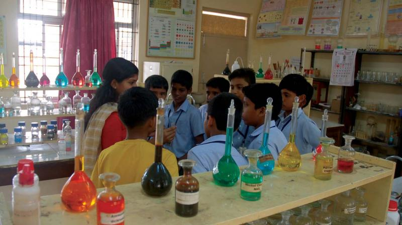 The world of experiments was thrown open to school  students at Cusat during summer vacation.
