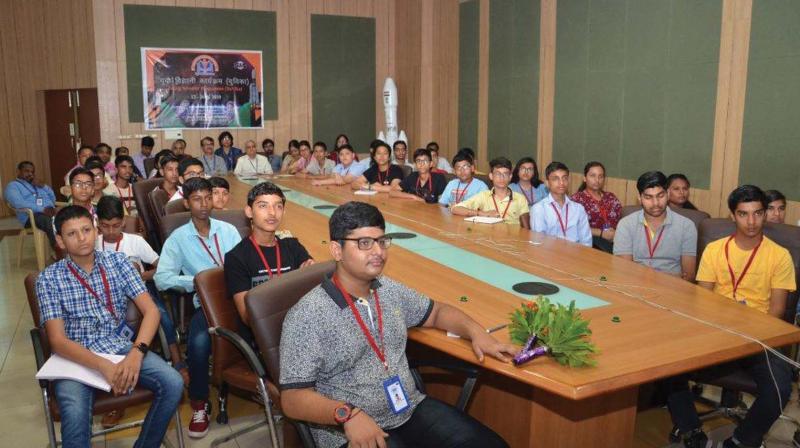 Participants of YUVIKA at Space Application Centre, Ahmedabad.