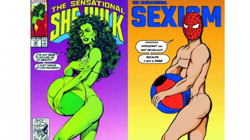 An image from Shreya's 'Sexism In Comic Books' series