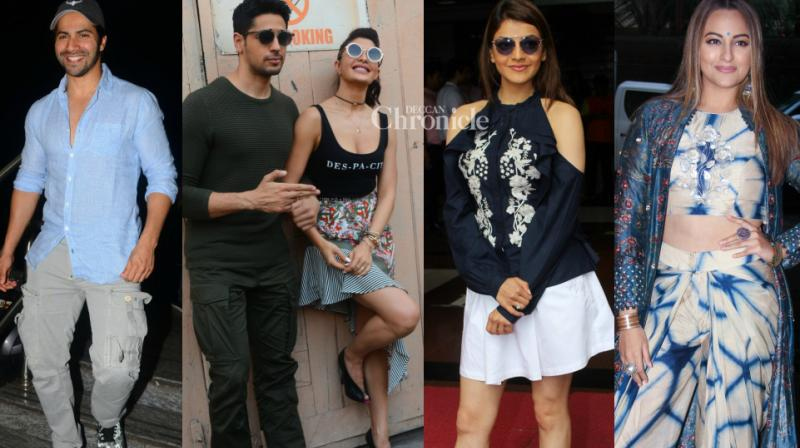 Paparazzi didn't disappoint as they were successful in cicking pictures of celebrities at various locations in Mumbai on Monday. (Photo: Viral Bhayani)