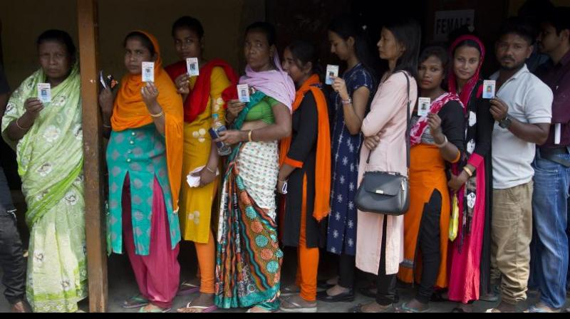 Over 64 per cent voter turnout was recorded in the third phase of Lok Sabha polls on Tuesday, the Election Commission said. (Photo: File)