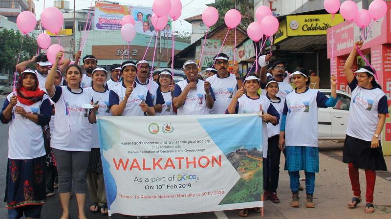 The walkathon held in connection with KFOG state conference at Bekal in Kasargod on Sunday.
