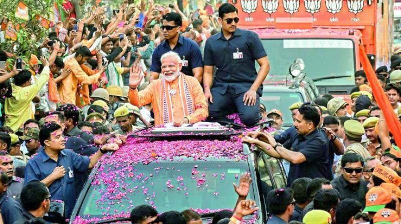 Modi is the ruling Bharatiya Janata Party's (BJP) candidate in Varanasi in the ongoing Lok Sabha polls. (Photo: PTI)