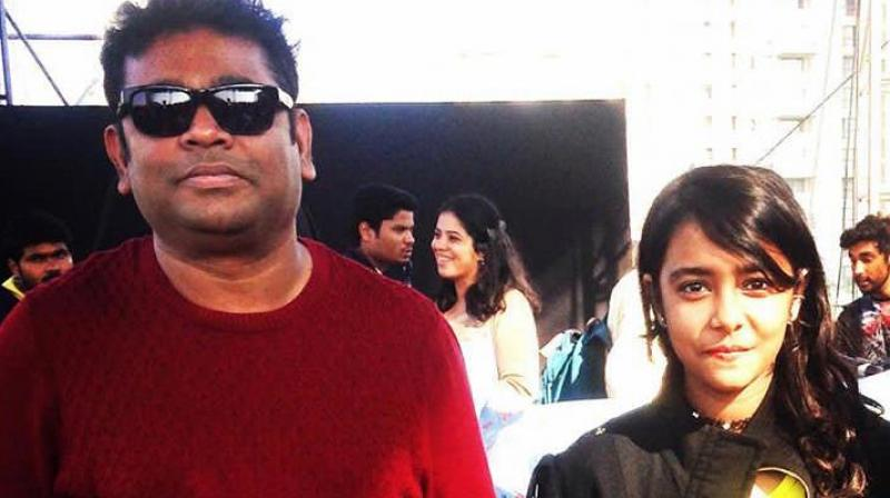 Esani Dey with AR Rahman.