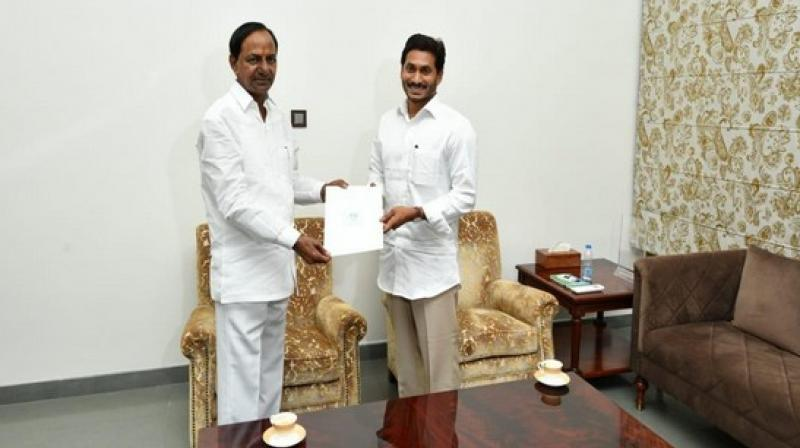 Water dispute between Telangana and Andhra Pradesh was also discussed in the meeting. (Photo: ANI)