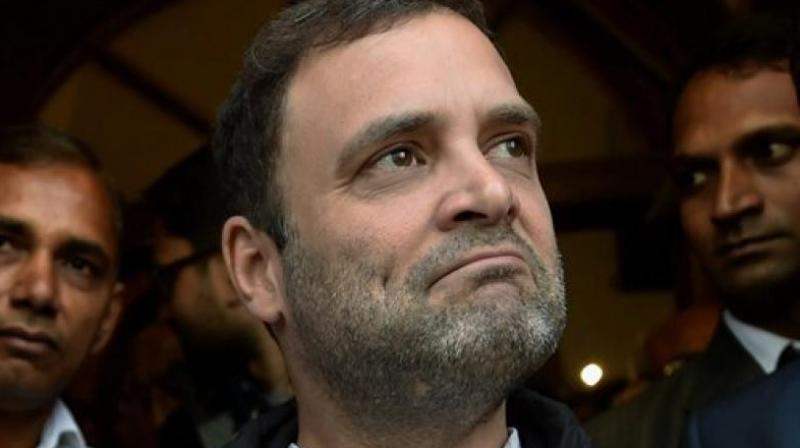 'We had the idea of having one tax and put those large number of items that are used by poor people and common man outside the GST. Cap the single tax at 18 per cent. That was our GST,' Rahul Gandhi said. (Photo: AP)