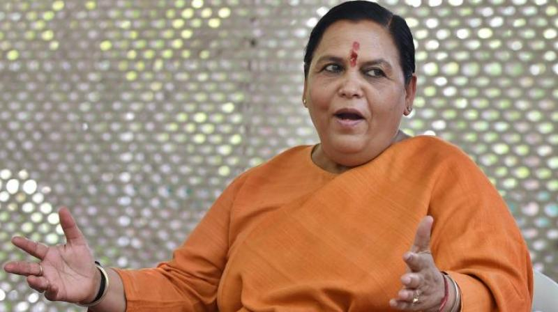 Uma Bharti urged people to not compare her with Sadhvi Pragya Singh Thakur. (AP)