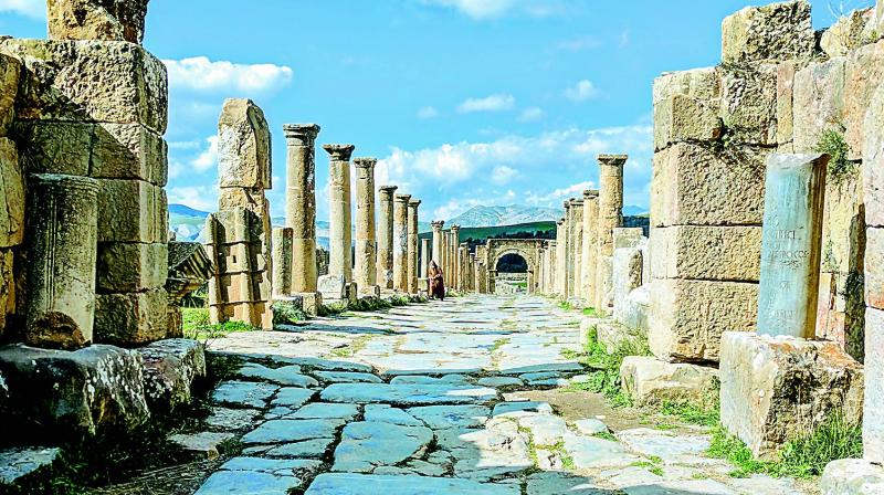 The Roman ruins of Tiddis.