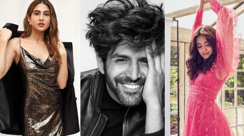 Sara Ali Khan, Kartik Aaryan and Ananya Panday.
