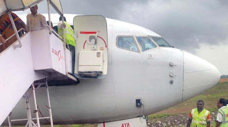 Air India flight from Dubai went off runway at Mangaluru Airport on Sunday. (Image KPN)