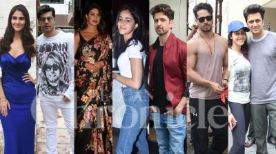Bollywood celebrities like Hrithik Roshan, Priyanka Chopra, Tiger Shroff, Varun Dhawan, Vaani Kapoor, Sushant Singh Rajput and others were spotted in Mumbai in their respective stylish appearance. So let's get starstruck with these pics. (Photos: Viral Bhayani)
