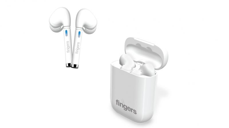 With a white stem design carrying LED light indicators & angular earbuds, the gadget even has a touch sensitive interface for controls.