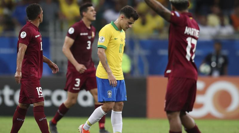 Philippe Coutinho thought he had fired Brazil into the quarter-finals in the 87th minute when he bundled home a finish from Everton Soares' driving run down the left wing at Salvador's Arena Fonte Nova on Tuesday. (Photo: AFP)