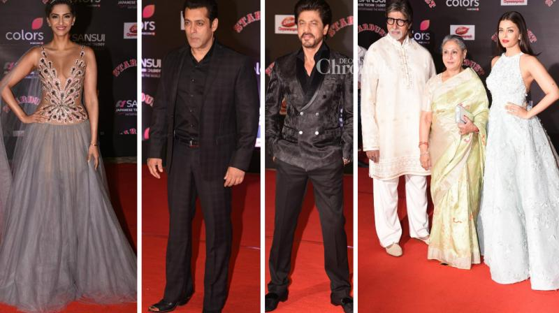 Numerous Bollywood stars were seen at the Stardust Awards held in Mumbai on Monday. (Photo: Viral Bhayani)