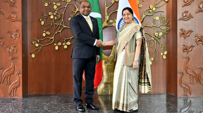 Minister for Foreign Affairs of Maldives Abdulla Shahid was recently on an official visit to New Delhi, where he met top leaders including his counterpart Sushma Swaraj and Defence Minister Nirmala Sitharaman. (Photo: Twitter | @MEAIndia)