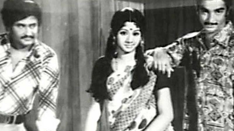Rajinikanth, Sridevi and Kamal Haasan.