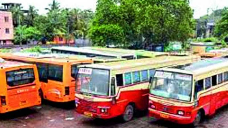 Bus services resumed from 3 pm on Tuesday.