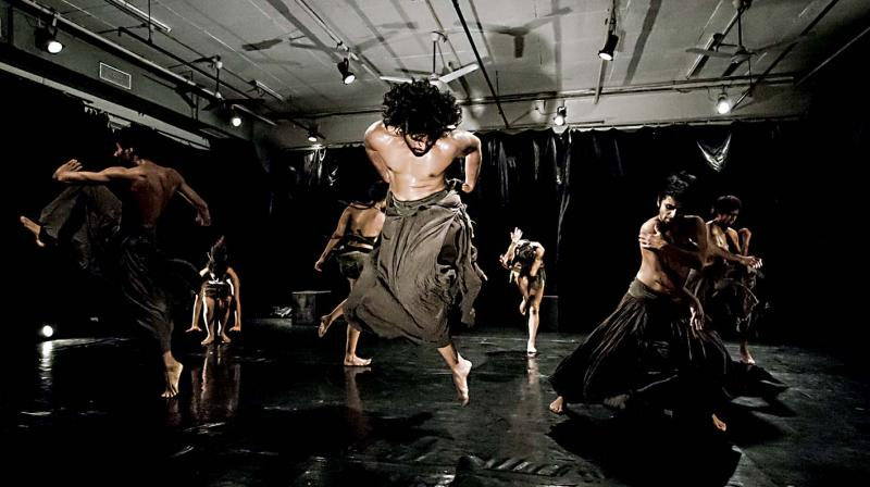 The choreography of Agni began with the central thought of fire translating as passion.