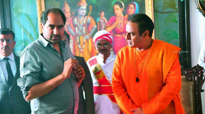 Krish and Balarkrishna on the sets of NTR: Mahanayakudu.