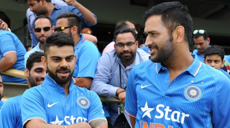 I have already started using him (Kohli) more. If you witness a match you will see I have more interactions with him on the field because two individuals of course will conduct in different ways, said MS Dhoni on Virat Kohli. (Photo: AFP)