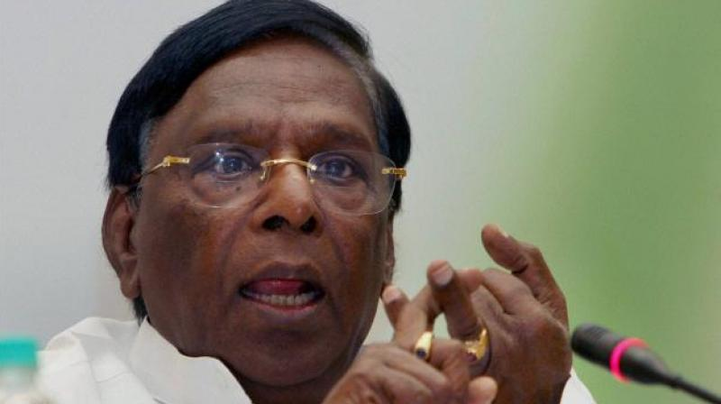 Bedi and Narayanasamy have been at loggerheads since the former top cop assumed the office, with the Congressman even staging a sit-in protest outside Raj Niwas against her decisions.  (Photo: PTI/File)
