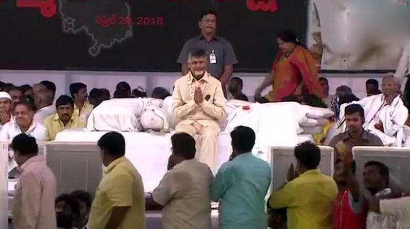 Andhra Pradesh's Chief Minister fast on his birthday in Amaravati