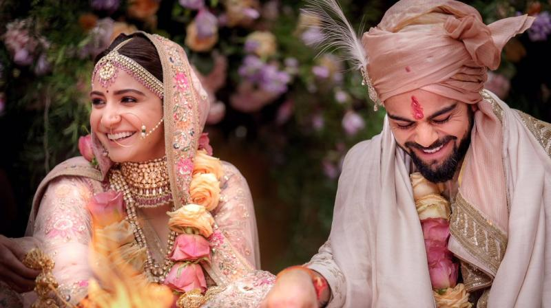 Virat Kohli and Anushka Sharma tied the knot in Italy and took to their social media channels to share the news with their fans. (Photo: Twitter / Anushka Sharma)