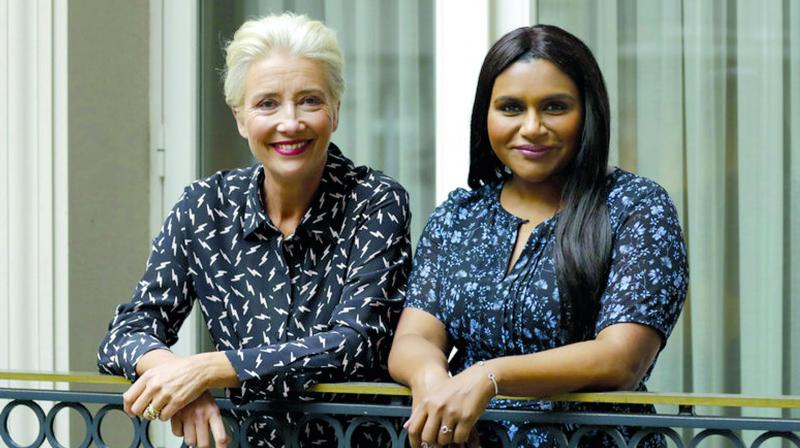 Emma Thompson and Mindy Kaling in Late Night