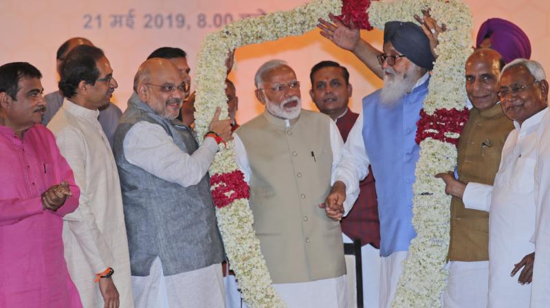 Hailing Modi's leadership and expressing faith in him, the resolution adopted by NDA leaders said their alliance is a true representative of India's diversity and dynamism. (Photo: AP)