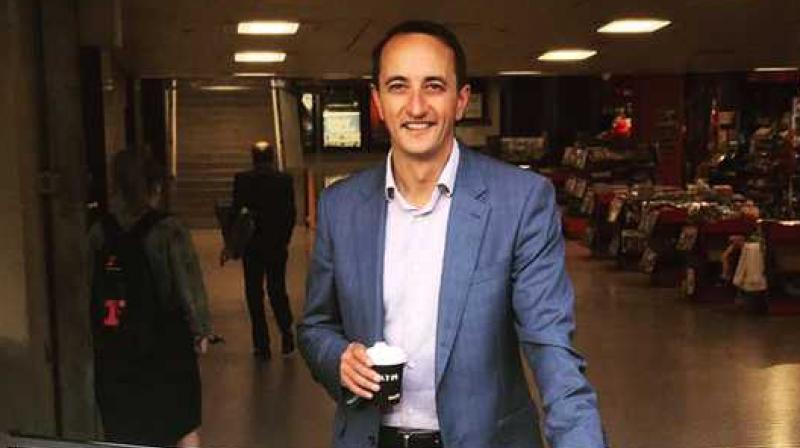 Sharma, 43, defeated independent candidate Kerryn Phelps for the eastern suburb seat of Wentworthin district.(Photo: @DaveSharma/Twitter)