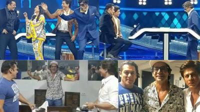 Shah Rukh Khan and Rani Mukerji were the guests at the grand finale of the TV show 'Dus Ka Dum', and shot for it in Mumbai on Friday. (Photos: Instagram)