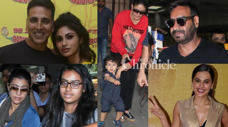Bollywood celebrities were spotted at multiple locations in Mumbai as they stepped out for professional and personal reasons. (Photos: Viral Bhayani)