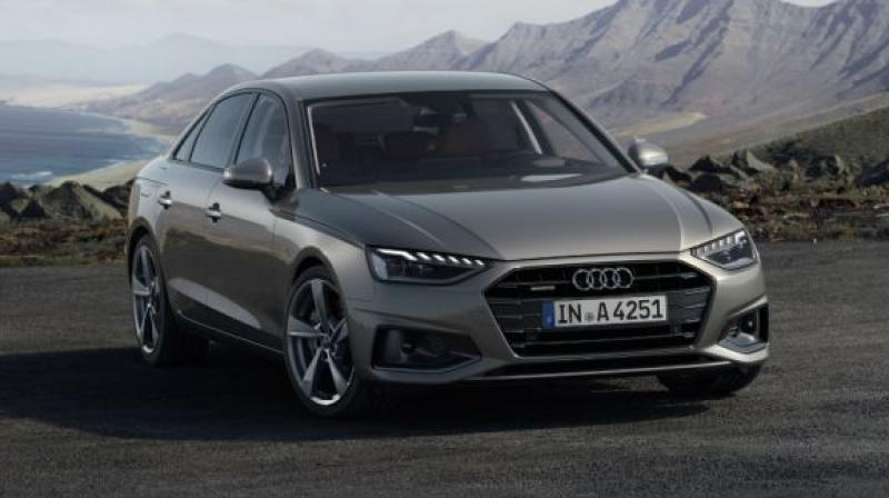 A4's front end receives tweaks like new headlights and a reworked front grille.