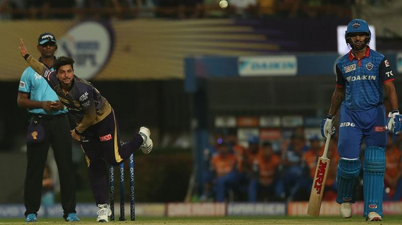 Kuldeep has taken four wickets in nine matches at an economy rate of 8.66 while bowling 33 overs for the Kolkata Knight Riders. (Photo: BCCI)