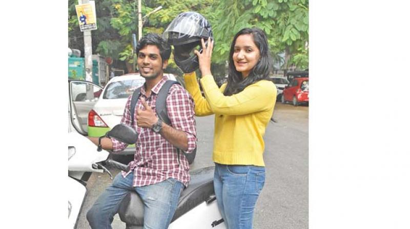 Stanli Verghese poses with a friend