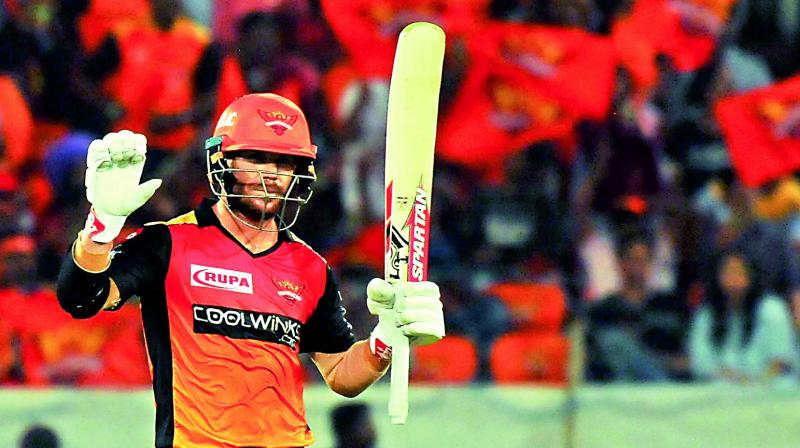 Post the ban, Warner was in imperious form in the ongoing IPL and signed off his season with 692 runs, the highest so far in the tournament, before heading home for World Cup preparations. Warner, who is the leading run-getter in the ongoing IPL with 692 runs, said he just backed his natural instinct. (Photo: File)