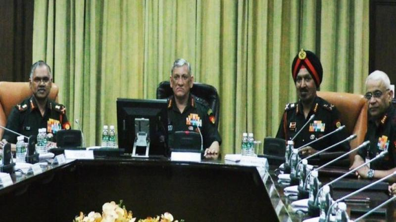 The Army commanders also discussed the ongoing operations along the Pakistan border in the wake of simmering India-Pakistan tensions. (Image: ANI)