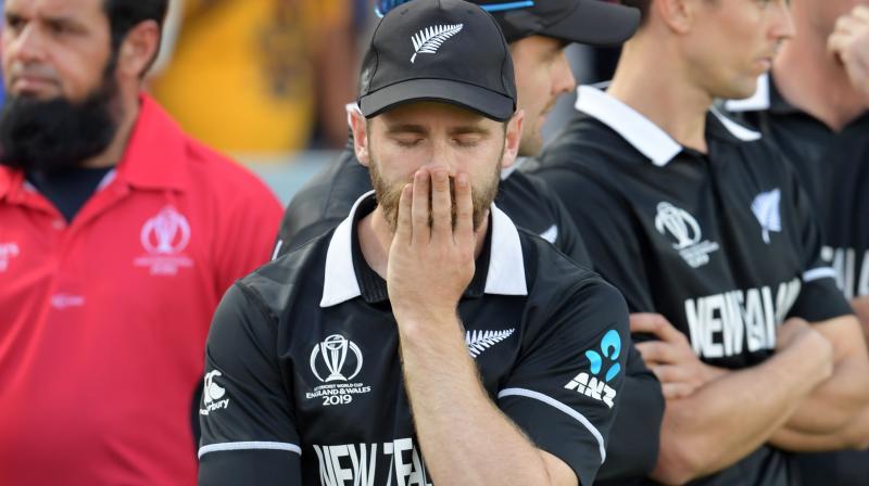 Kane Williamson reacts during the trophy presentation. (Photo:AP)