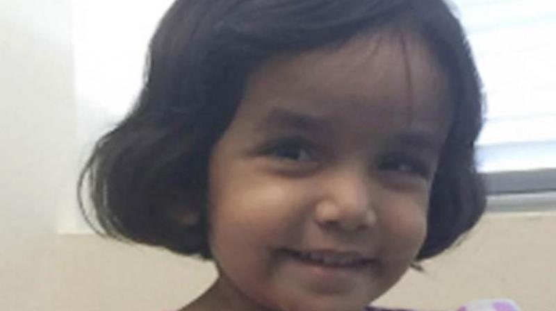 Sherin Mathews had gone missing on October 7 and the police in the Texan city of Richardson had earlier this week confirmed her death after over a fortnight of searches. (Photo: AFP | File)