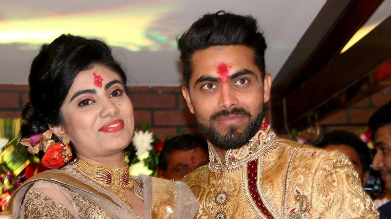Ravindra Jadeja and his wife Reeva Solanki were blessed with a baby girl on June 8. (Photo: PTI)