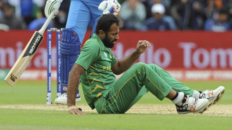 'Wahab Riaz was ruled out of ICC Champions Trophy after sustaining an injury during the India-Pakistan clash on June 4. (Photo: AP)