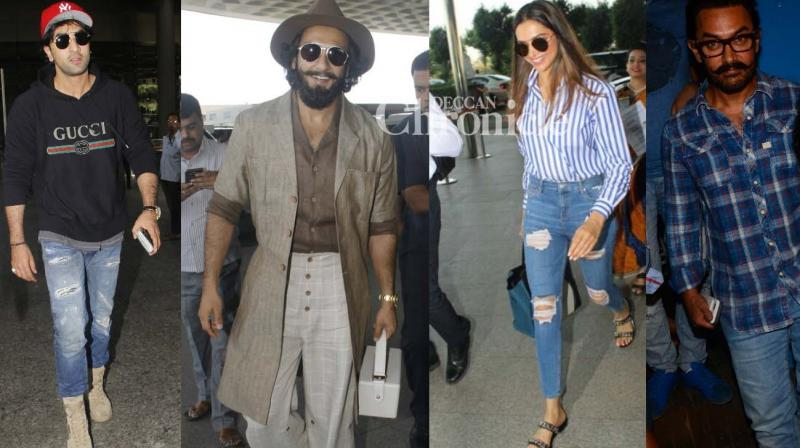 Shutterbugs snapped Bollywood celebrities at various locations in Mumbai on Thursday. (Photo: Viral Bhayani)